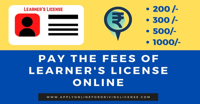 learning license fees in india